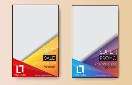 sales banner for website, social media or printing - Vector