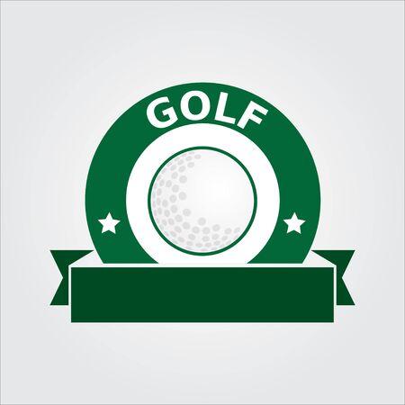 Golf sport logo, icon, template - vector