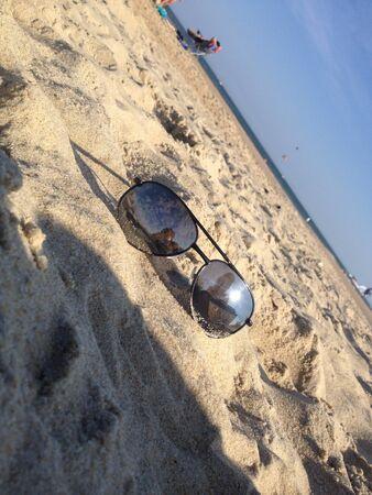 Sunglasses sunbathing