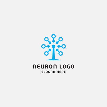 Neuron logo design template Logo