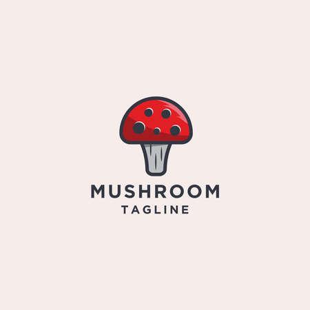 Mushroom logo design template Çizim