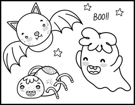 Halloween Coloring Pages Vettoriali