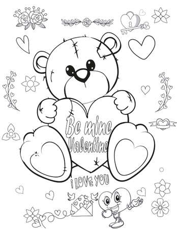 Coloring book page for Christmas - Coloring page - Black and White Cartoon Illustration. Vetores