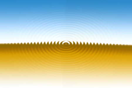 causes: Vibration causes waves Stock Photo
