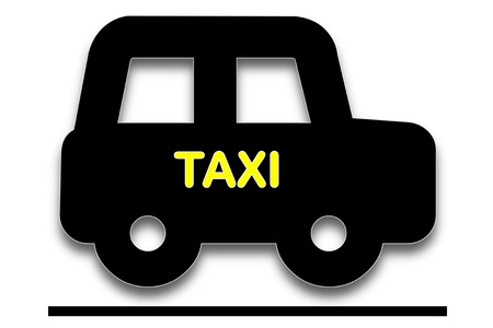 presage: picture show symbol of taxi car it black or dark color car