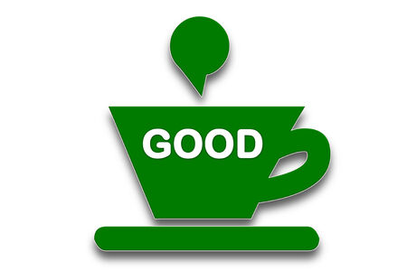 presage: picture show Coffee cup symbol with the word good  Stock Photo