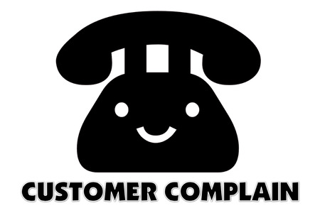 presage: picture of Symbol of communication to talking by telephone and indicated by CUSTOMER COMPLAIN