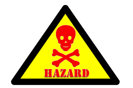 picture of Symbol is intended to alert the safety hazards that may occur with hazard word Yellow background and black border