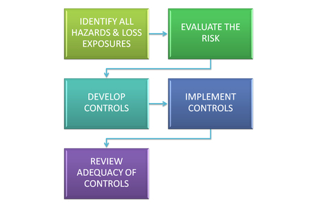 picture is show the diagram of goals of risk management