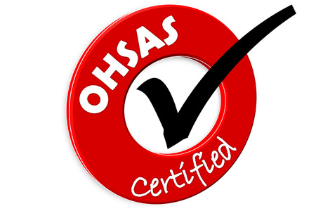 The images symbol have been food ohsas certified