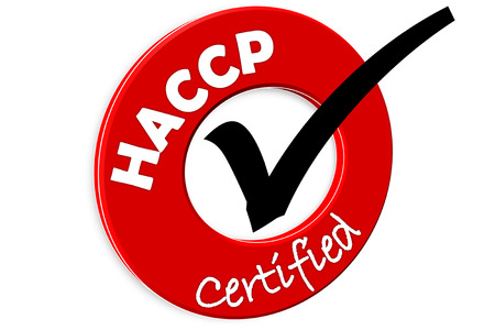 The images symbol have been food haccp certified  Stock Photo