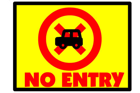Symbol indicates that the no entry