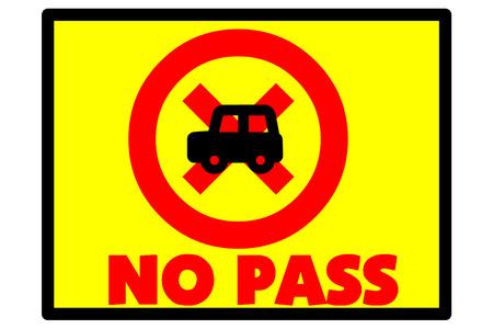 no pase: El s�mbolo indica que el no pase