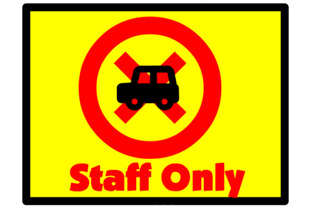staff only: Symbol indicates that the staff only
