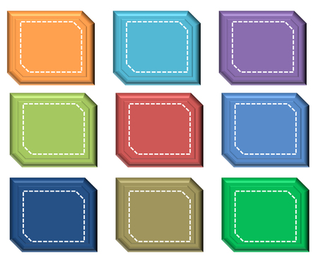 free blank speech snip diagonal corner rectangle icons backgrounds Stock Photo