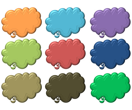 clound: free blank speech clound callout icons backgrounds Stock Photo