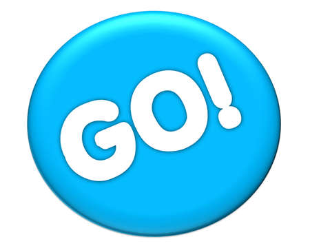 the word of go in blue icon color
