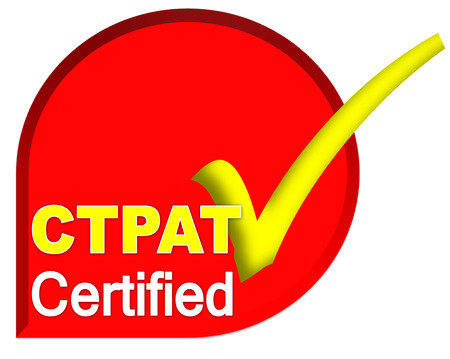 certificate logo or symbol of CTPAT system on red color