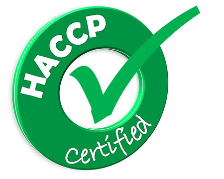 The images symbol have been HACCP certified Stock Photo