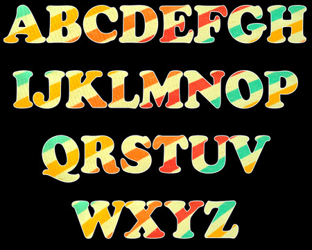 color full and vintage background of alphabet style 17 photo