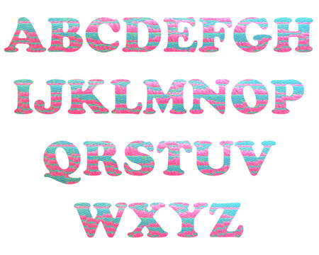 color full and vintage background of alphabet style 24 photo