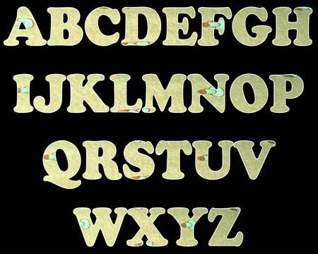 color full and vintage background of alphabet style 27 photo