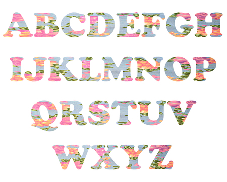 color full and vintage background of alphabet style 32 photo