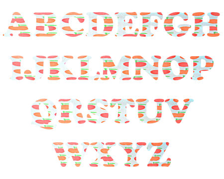 color full and vintage background of alphabet style 44 photo