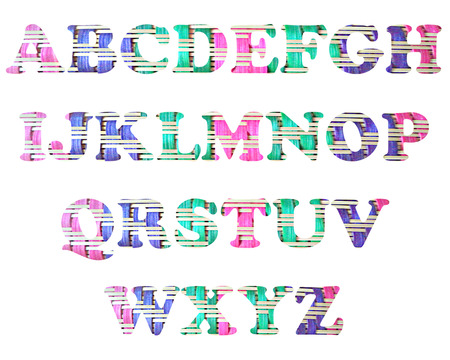 color full and vintage background of alphabet style 61 photo