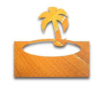 the vintage picture symbol of island photo