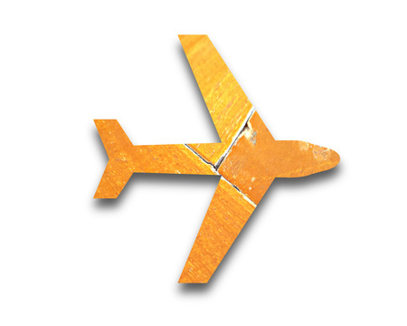 the vintage picture symbol of plane  photo
