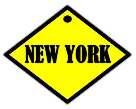 the yellow label of new york city  photo
