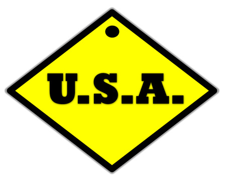 the yellow label of U.S.A photo