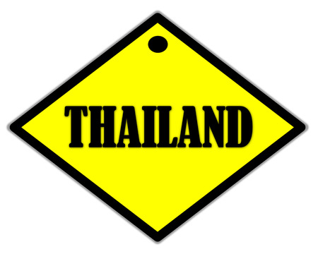 the yellow label of Thailand photo