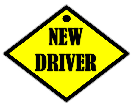 the yellow label of new driver photo