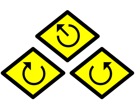 the yellow label of the arrow sign way style 2 photo
