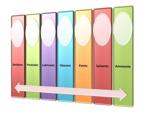 amoniaco: las fuentes de peligros qu�micos en un estilo ambiente de la planta Foto de archivo