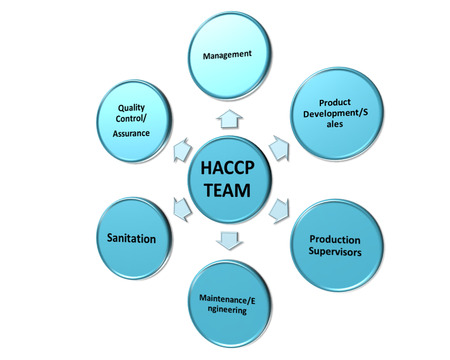 the picture is show the member of the HACCP team style