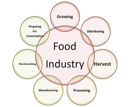 food industry: the picture is show the haccp use in food industry style