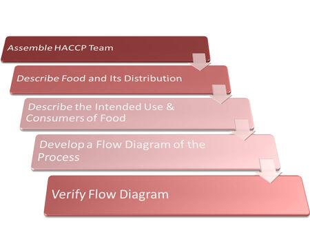 industria alimentaria: el cuadro es mostrar el uso haccp en estilo industria alimentaria Foto de archivo
