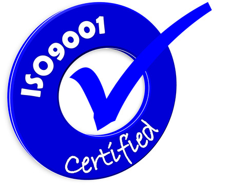 The images symbol have been ISO9001 certified Stock Photo