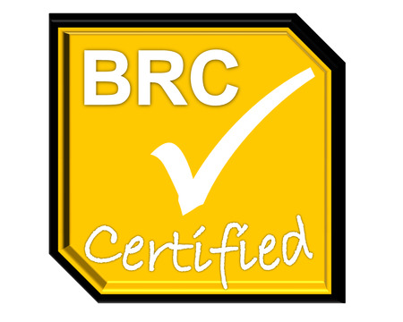 the symbol of accreditation and certificate for BRC system Stock Photo