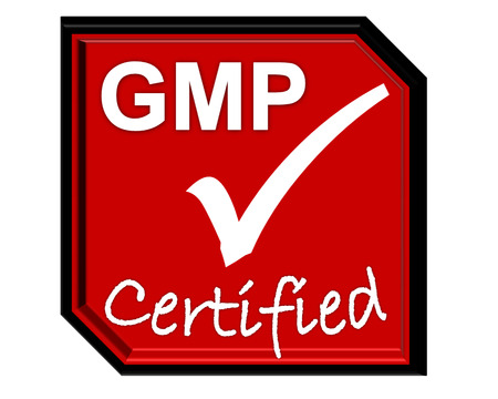 the symbol of accreditation and certificate for GMP system