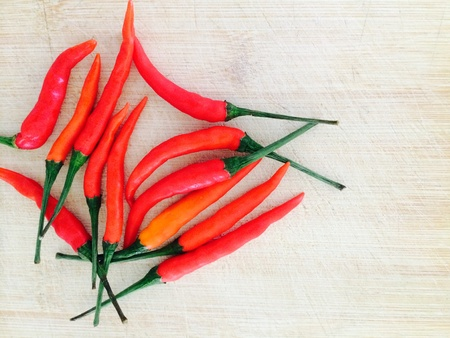 material: Peppers or chilly for food cooking in kitchen Stock Photo