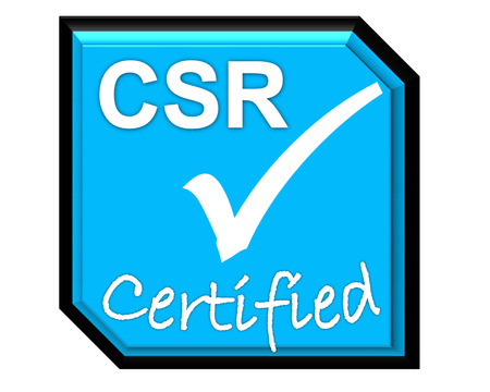the symbol of accreditation and certificate for CSR system