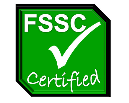 the symbol of accreditation and certificate for FSSC system Stock Photo