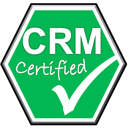 green been: The images symbol have been  CRM certified on green background