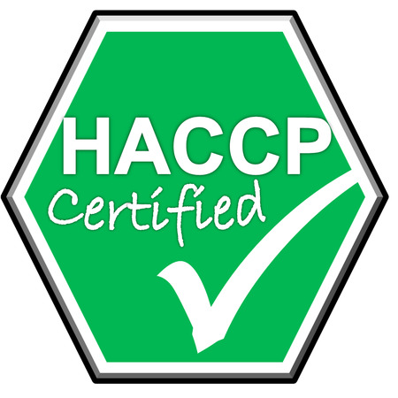 green been: The images symbol have been HACCP certified on green background