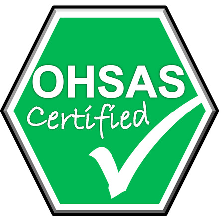 green been: The images symbol have been OHSAS  certified on green background