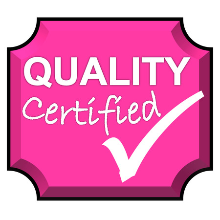 The images symbol have been certified quality system Stock Photo